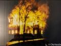 Dalstorps 1800-tals kyrka brinner