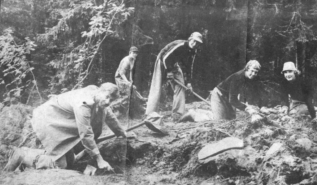 Arkeologisk-utgrävning i Dalstorp År1979
