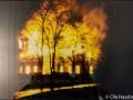 Gamla kyrkan brinner