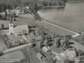Flygfoto-över-Dalstorps-kyrka-1955