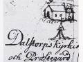 Lantmäterikarta över Dalstorp kyrka 1701
