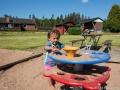 Alvin vid lekplatsen vid Torgvägen i Dalstorp