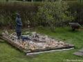 Stenpartiet med trädgårdsväktaren
