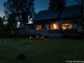 Kvällsbelysning i trädgården