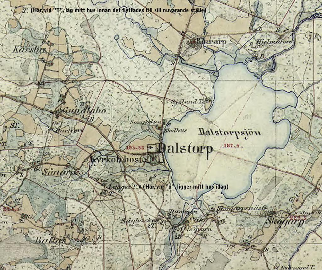 Karta över Dalstorp 1890